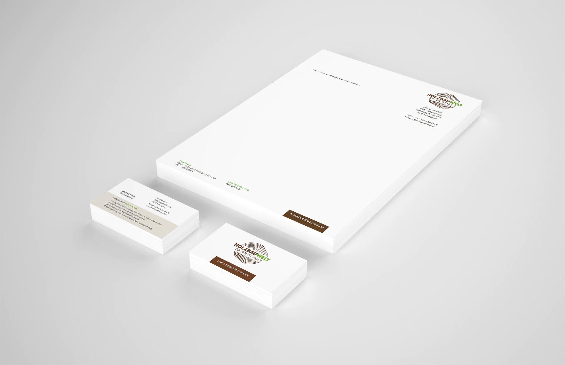 Holzbauwelt.de Briefbogen Visitenkarte