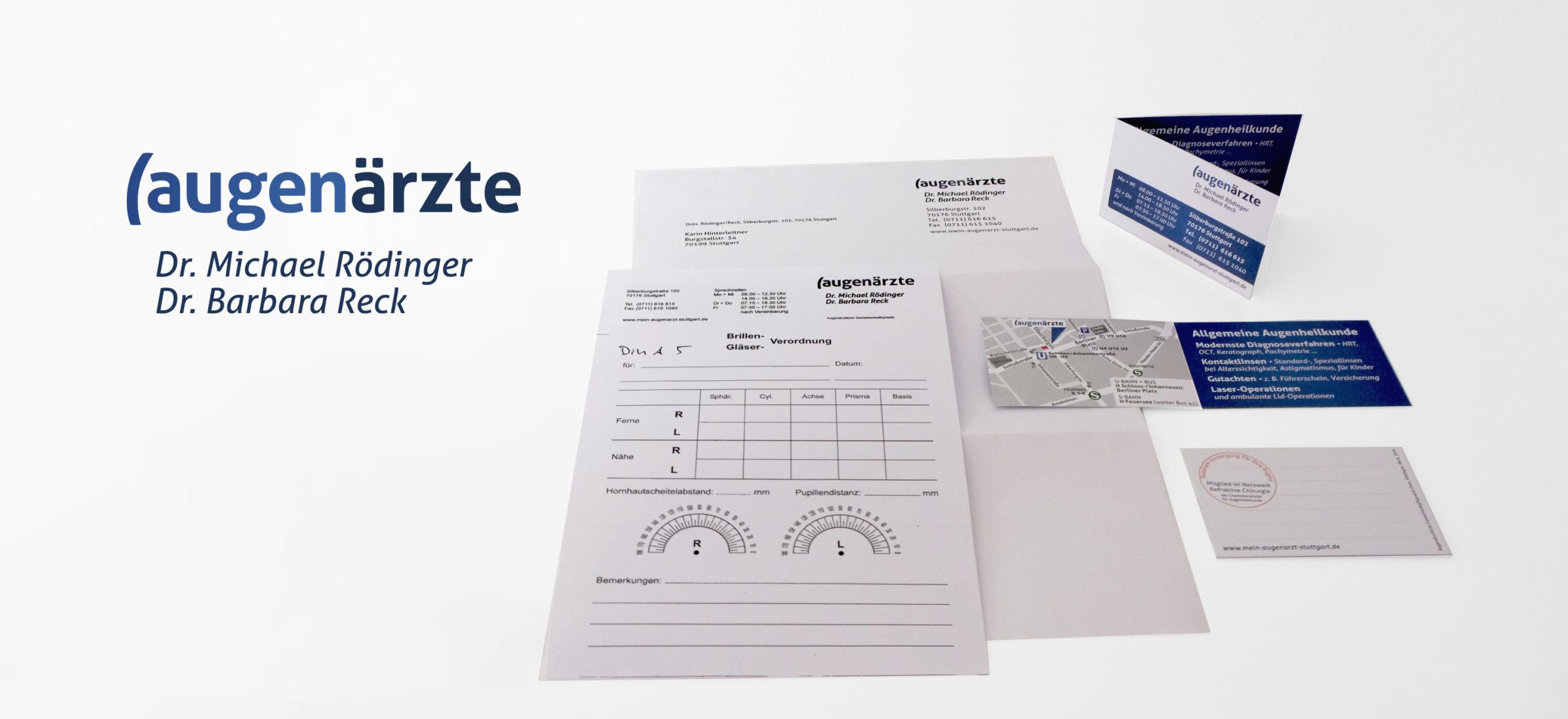 Augenärzte Reck-Rödinger Stuttgart - Print Praxisausstattung