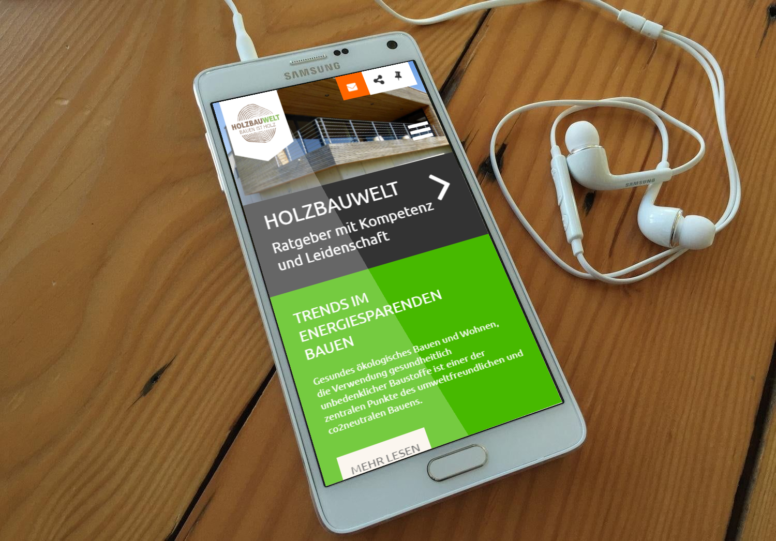 Holzbauwelt.de mobiles Layout